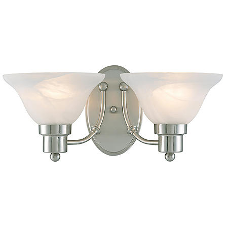 Hardware House Bristol 2-Light Bath/Wall Light - Brushed Nickel
