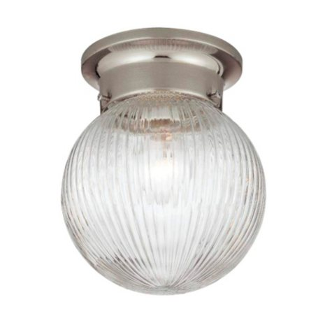 Hardware House 1-Light Ceiling Light - Satin Nickel
