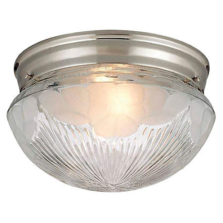 Hardware House 2-Light Ceiling Light - Satin Nickel