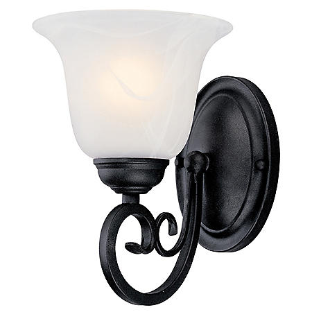 Hardware House Tuscany 1-Light Bath/Wall Light - Textured Black