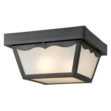 Hardware House Outdoor Porch Ceiling Light - Black