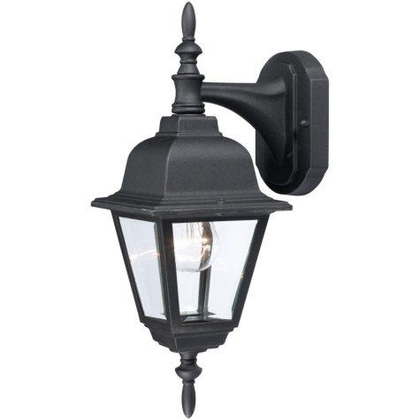 Hardware House Textured Outdoor Coach Lantern - Black