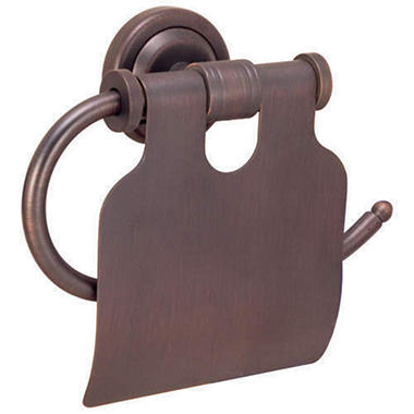 Toledo Classic Bronze Toilet Tissue Holder w/Lid