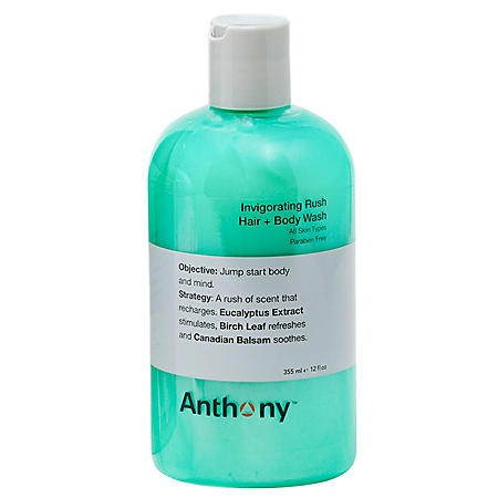 Anthony Invigorating Rush Hair and Body Wash (12 oz.)