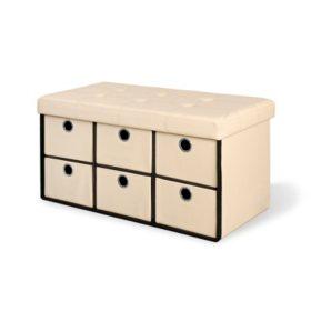 Bintopia Storage Bench with Six Drawers