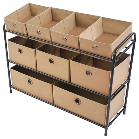 Bintopia 3-Tier Storage Organizer - Taupe