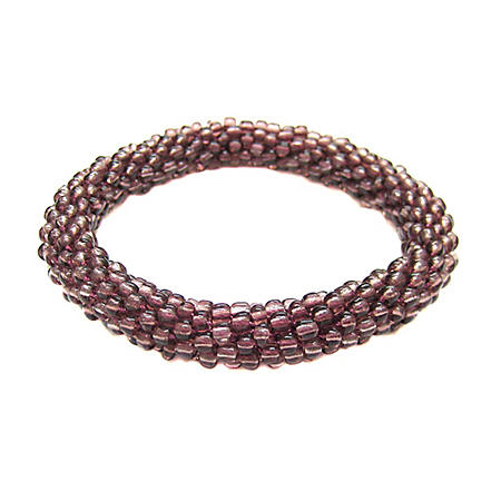 Beads of Hope Seed Bead Bracelet - Plum