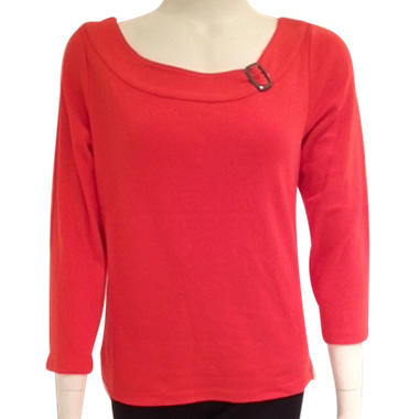 Buckle Neck Top - Various Colors