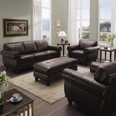 Kingston Leather Living Room Group - 4 pc. - Sam\'s Club