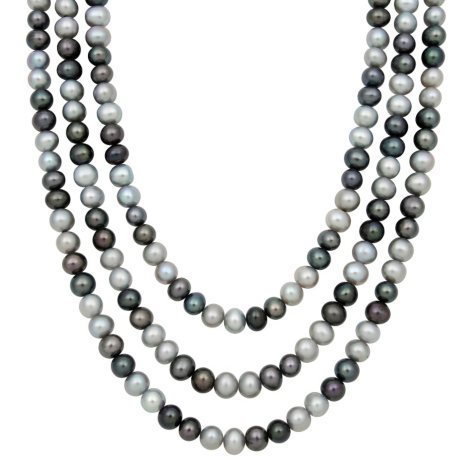 """64"""" Endless Multi-Colored Freshwater Pearl Necklace"""