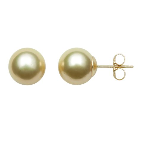 OFFLINEGolden South Sea Pearl Studs in 14K Yellow Gold - Various Pearl Sizes Available