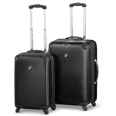 Heys USA Valet 2 Piece Lightweight Luggage Set - Black