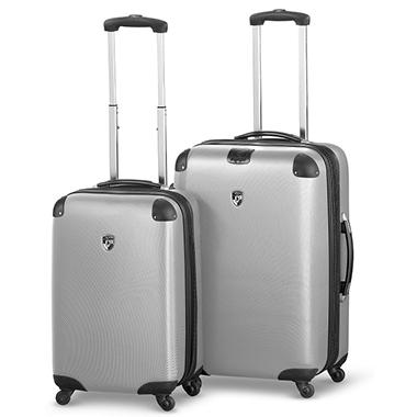 Heys USA Valet 2 Piece Lightweight Luggage Set - Silver