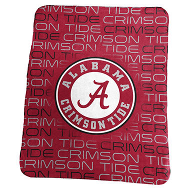 NCAA Classic Fleece Blanket by Logo Brands, Assorted Teams