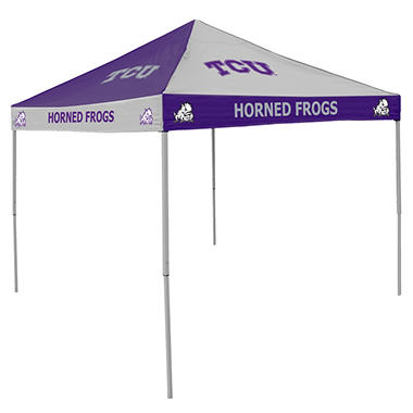 9x9 NCAA TCU Checkerboard Canopy