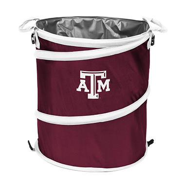 3-In-1 Collapsible Cooler Hamper Wastebasket Texas A&M