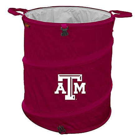 3-In-1 Collapsible Cooler Hamper Wastebasket Texas Tech