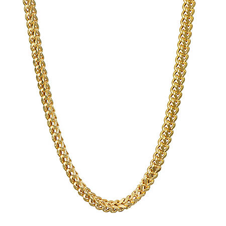 "14k Yellow Gold Hollow Franco 24"" Chain with Lobster Claw Clasp"