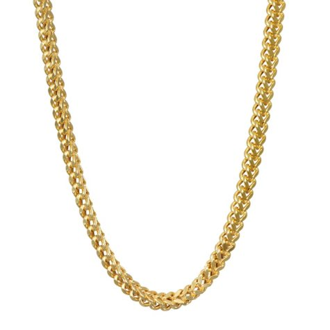 """14k Yellow Gold Hollow Franco 24"""" Chain with Lobster Claw Clasp"""