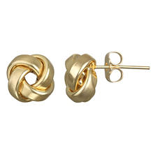 9b58dfc98 14k Yellow Gold Love Knot Stud Earring
