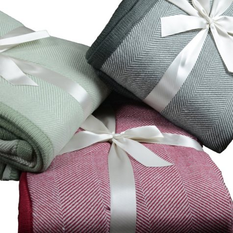 Brielle Herringbone Knit Throw (Assorted Colors)