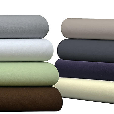Brielle 100% Cotton Jersey Knit Sheet Set (Assorted Sizes and Colors)