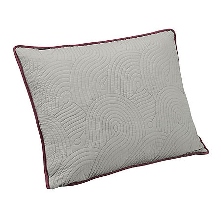 Brielle Wave Reversible Pillow Sham Set (Assorted Sizes and Colors)