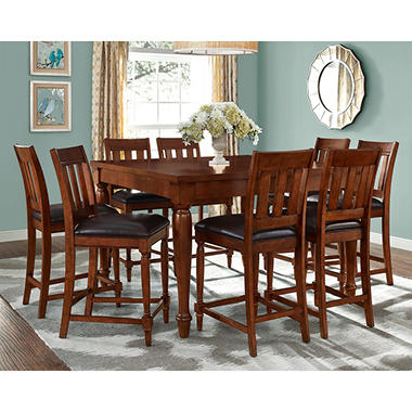 Delightful Victoria Counter Height Table And Chairs, 9 Piece Set