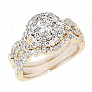 1.25 ct. t.w. Round Cut Diamond Engagement Ring Set in 14K Yellow Gold (H-I, I1)