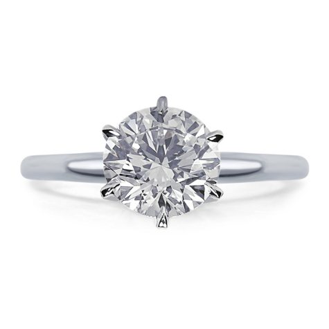 1.50 CT. Round Diamond Solitaire Engagement Ring in 14K Gold (H, VS2)