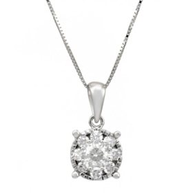 .50 ct.t.w. Diamond Pendant in 14k White Gold HI-I1
