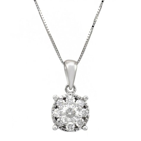 .50 ct.t.w. Diamond Pendant in 14k White Gold HI-I1