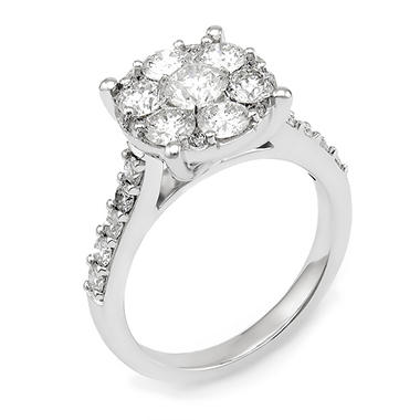 2.00 CT.T.W. Diamond Composite Engagement Ring in 14K White Gold (I,I1)