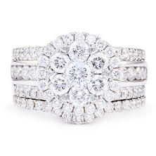 2.50 CT. T.W. Diamond Bridal Set in 14K White Gold (I/I1)
