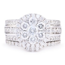 2.50 CT. T.W. Diamond Bridal Set in 14K White Gold (I-I1)