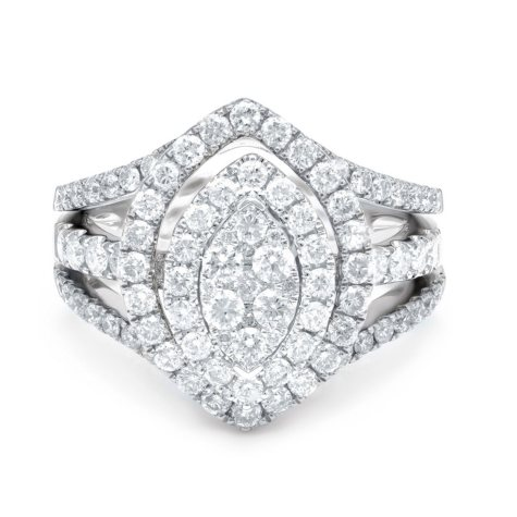 1.50 CT. T.W. Diamond & Interchangable Insert Ring Set in 14K White Gold (I/I1)