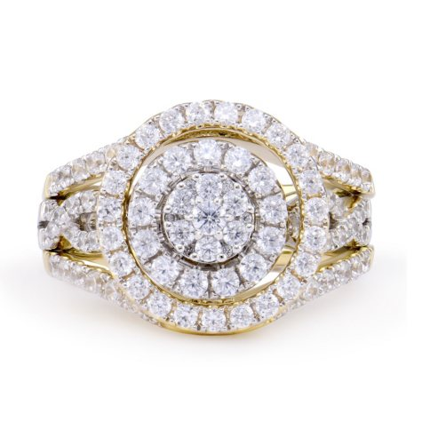 1.45 CT. T.W. Diamond & Interchangable Insert Ring Set in 14K White & Yellow Gold (I/I1)
