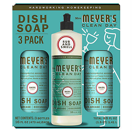 Mrs. Meyer's Liquid Dish Soap, Choose Your Scent (16 fl. oz., 3 ct.)