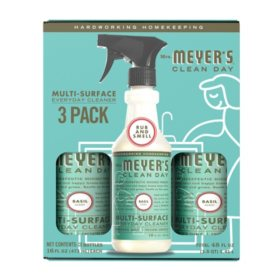 Mrs. Meyer's Multi-Surface Everyday Cleaner, 3 x 16 fl oz. (Choose Your Scent)