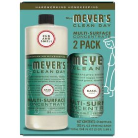 Mrs. Meyer's Multi-Surface Concentrate, Choose Your Scent (32 fl. oz., 2 ct.)