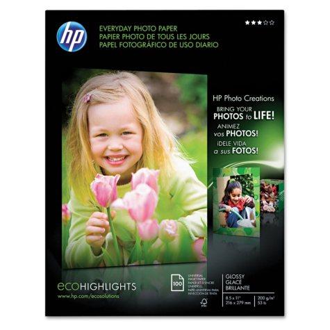 "HP Everyday Glossy Photo Paper - 8.5"" x 11"""