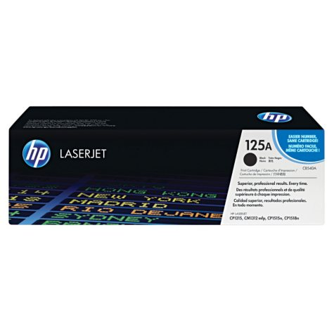 HP 125A Series Original Laser Jet Toner Cartridge, Select Color/Type