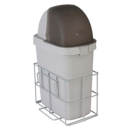 Detecto Waste Bin and Holder with Accessory Rail for Rescue Cart