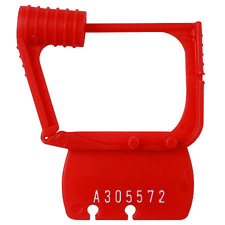 Detecto Red Plastic Seals, Individually Numbered