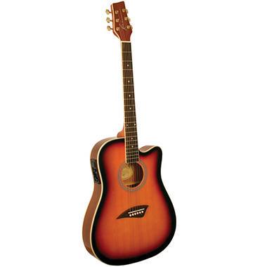kona thin body acoustic electric guitar with high gloss tobacco sunburst finish sam 39 s club. Black Bedroom Furniture Sets. Home Design Ideas