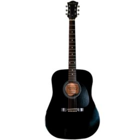 Main Street Acoustic Dreadnought Guitar in Black