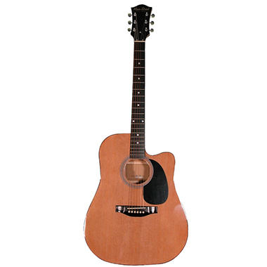 Main Street Cutaway Acoustic Dreadnought Guitar in Natural Finish