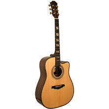 "Kona Thin Body 41"" Acoustic Guitar with Spruce Top and Rosewood Body in High Gloss Finish"