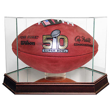 Super Bowl 50 Official Wilson Game Football w/ Display Case