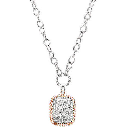 .96 ct. t.w. Diamond Rose Gold Pendant (H-I, I1)
